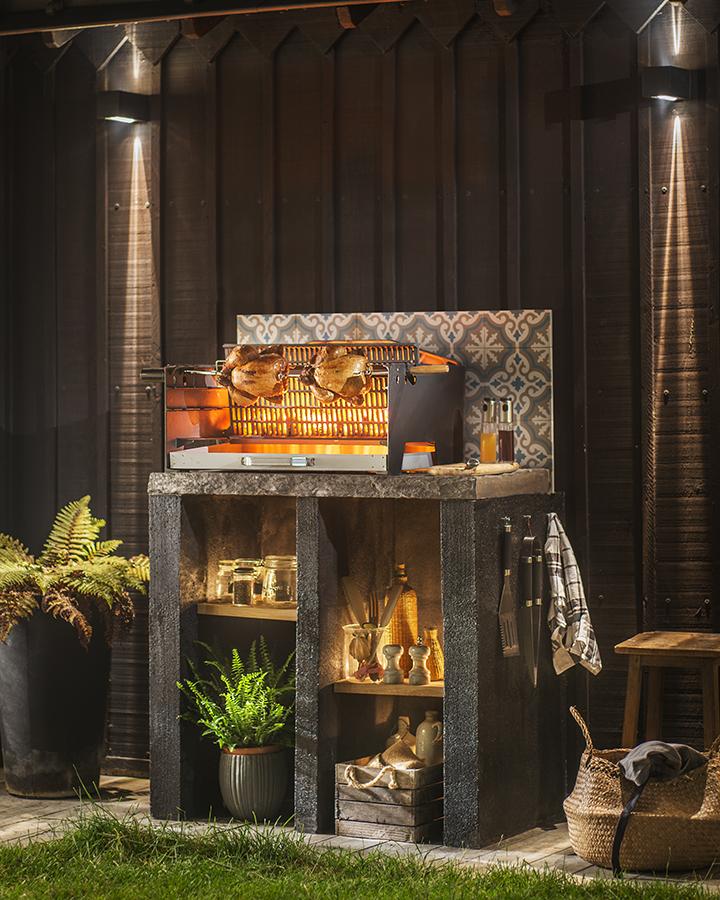 Barbecue charbon à poser Alexandrie cuve fonte 67 x 40 cm