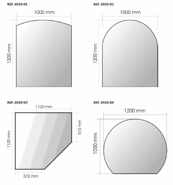Plaque en verre P692001